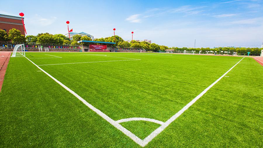 余姚中学足球场摄影图一