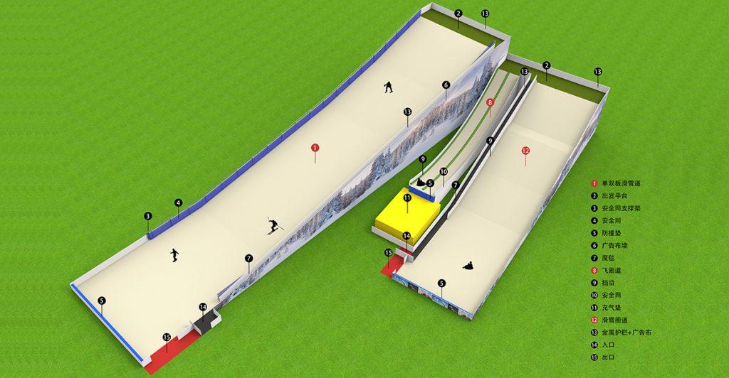 单双板旱雪场综合体效果图